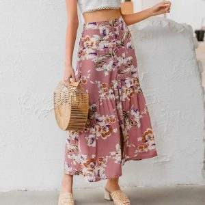 Bohemian Skirt with flowers