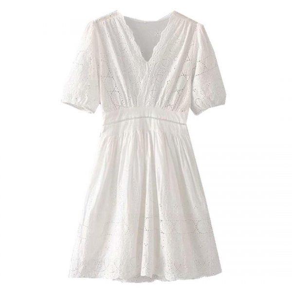White lace bohemian dress
