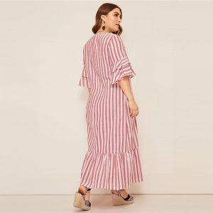 Bohemian maxi dress large size cheap
