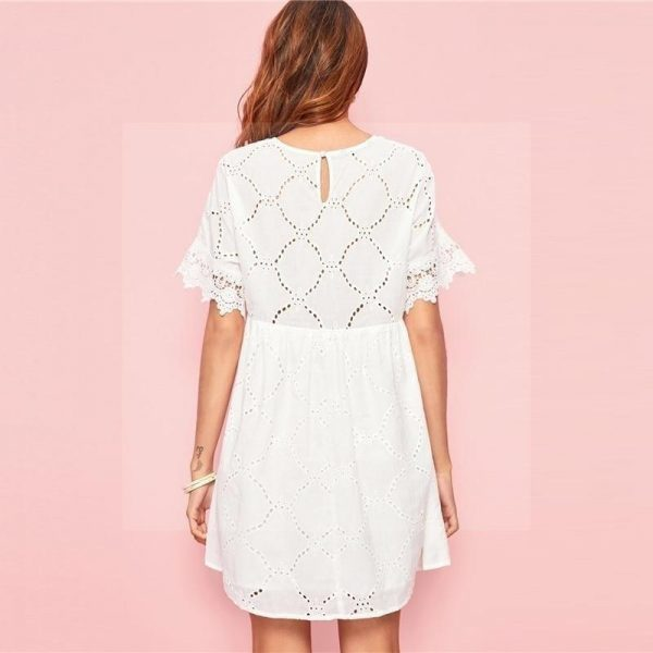Bohemian dress with lace