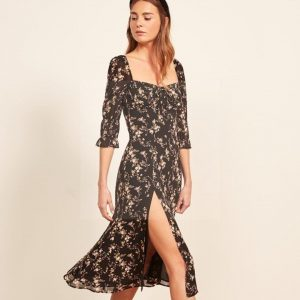 Bohemian long dress with sleeve